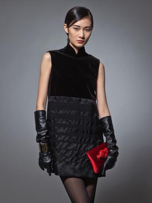 black velvet cheongsam