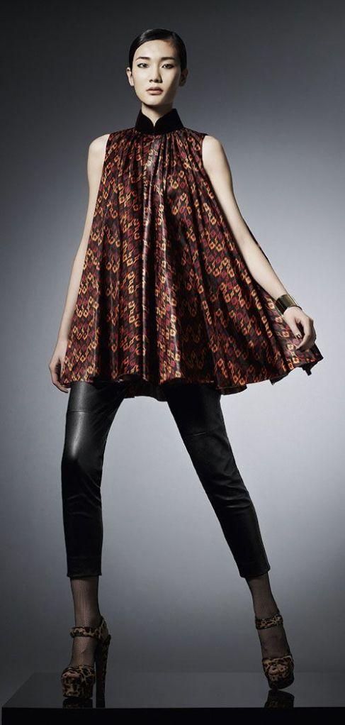 Micro Ikat Print dress