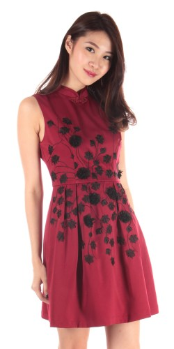 Dressabelle maroon red