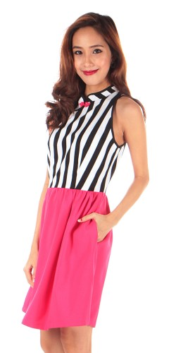 Dressabelle striped pink