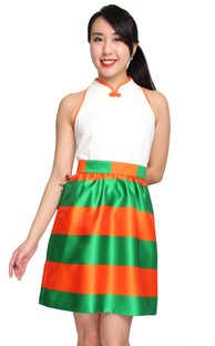 Orange and green cheongsam
