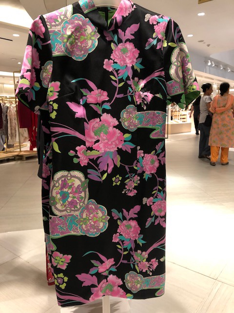 32510cd40 Here is a really pretty cheongsam below. It is in the usual cap-sleeved  cheongsam that Cloth.ier does but the garden print makes it stands out.